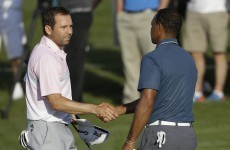 A golf official says Tiger Woods lied about distracting Sergio Garcia during a shot