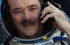 Here's why Chris Hadfield keeps dropping his coffee*