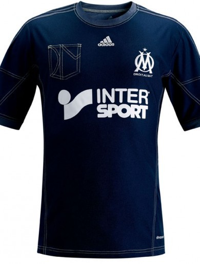 Marseille's new faux-denim jersey is unspeakably bad