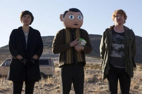 Scene from Lenny Abrahamson's new movie Frank