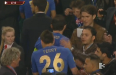 Here he comes... John Terry changes into full kit again to pick up European trophy