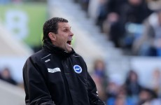 No joke: Someone at Brighton left a poo in the away dressing room