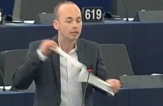 WATCH: Irish MEP rips up property tax form in European Parliament