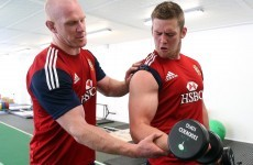 Look how much fun Paul O'Connell had at Lions training today