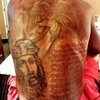 NBA superstar Kevin Durant finished his massive back tattoo this week