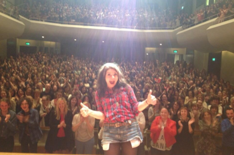 """Caitlin Moran: """"F**king AMAZING night in Dublin - best audience EVER. Sorry about all the vagina stuff (I'm not)"""""""