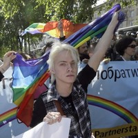 Ukraine gay rights activists hold first ever march