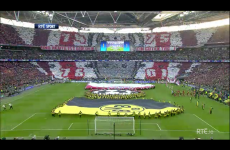 Picture: Bayern Munich fans' incredible mosaic before kick-off