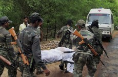 27 killed as guerrillas ambush convoy of Indian political leaders