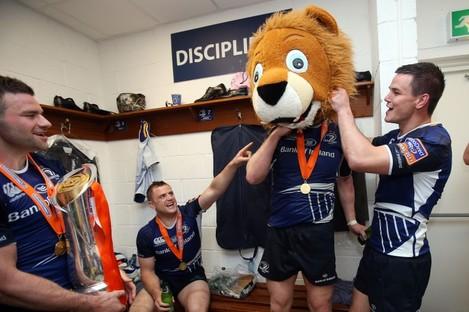 Discipline: Leo Cullen wears the head of a lion.