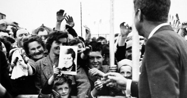 Can you name this little boy smiling at JFK during his visit to Ireland in 1963?