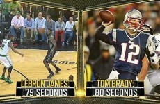 LeBron James throws faster than Tom Brady, according to this ESPN study
