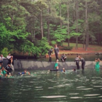 Wedding party falls into lake during ill-conceived photoshoot