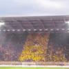 Amazing flag waving display by Dynamo Dresden fans