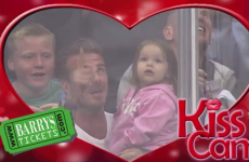 Awww! David Beckham's adorable KissCam moment with daughter Harper