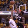 LeBron James jumped 2 feet above the rim for this epic block