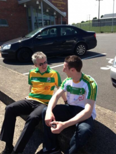Joe Brolly counsels Tyrone's Niall Morgan after loss to Donegal