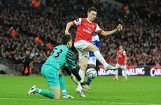 Szczesny left red-faced after Carling Cup gaffe