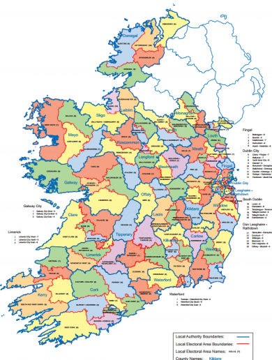Here are the new boundaries for next year's local elections