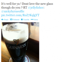 Tweet Sweeper: Nicky Byrne doesn't like the new Guinness glasses