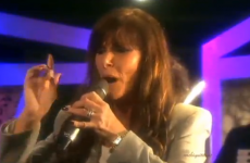 Linda Martin sings last year's Eurovision winner... badly