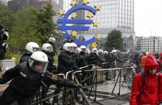 'Blockupy' protestors block access to ECB headquarters in Frankfurt