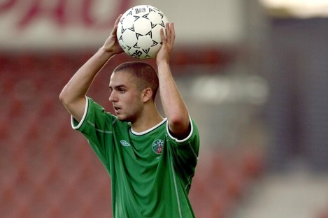 Tierney playing for the Ireland U21s.