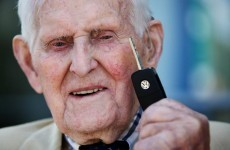 What do you get a 100-year-old vet for his birthday?