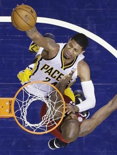 Paul George dunks all over Chris Bosh, forces gripping Heat-Pacers series to Game 7