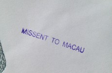 So, a statement for Irish language mag ended up in Macau, China