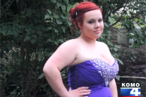 Brittany Minder in her prom dress