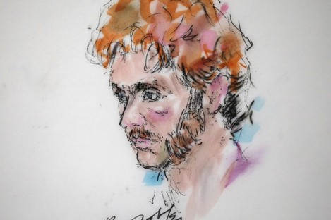A courtroom sketch from last year shows James Holmes, the man suspected of carrying out the Colorado cinema shootings.