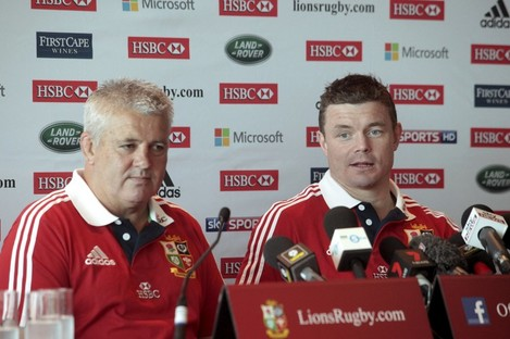 Warren Gatland and Brian O'Driscoll.