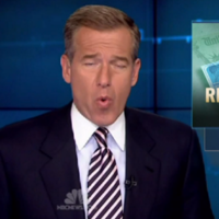 News anchor Brian Williams rapping Snoop Dogg