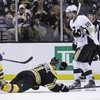 NHL player breaks leg throwing himself at shot, gets up and plays on