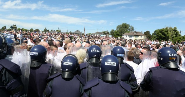 Gardaí in riot gear attend funeral of former IRA chief of staff