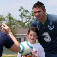 The Irish football team visit Hurricane Sandy victims in New York