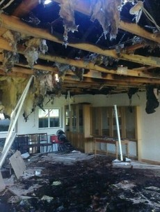 PHOTOS: Wicklow football clubhouse destroyed in arson incident