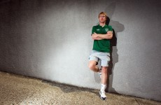 Goalkeeper Aaron McCarey faced the dreaded Ireland initiation song today