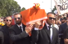 Lazio fans held a mock funeral for rivals Roma last weekend