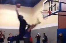 Watch a helpless Chris Brown get dunked on by Andre Drummond
