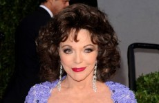 Joan Collins rushed to hospital after Oscars because of 'very tight gown'