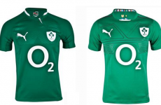 Spot the difference: This is Ireland's new rugby jersey
