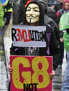Anti G8 protests take place in Belfast