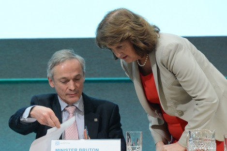 """ISME has urged Richard Bruton to put Joan Burton """"back in her box"""" over calls to increase the national minimum wage of €8.65."""