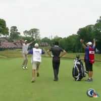 Amazing, jammy hole-in-one sends the crowd wild at the US Open