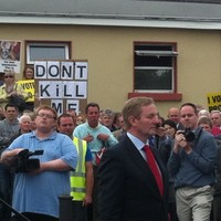 Kenny targeted by 200 pro-life protestors in Longford