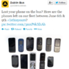 Dublin Bus are now tweeting pictures of lost phones