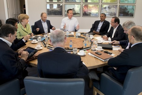 G8 leaders in discussions this morning