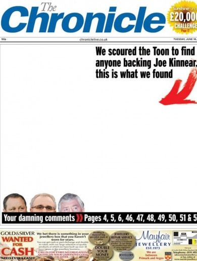 The Chronicle are really nailing their Joe Kinnear coverage